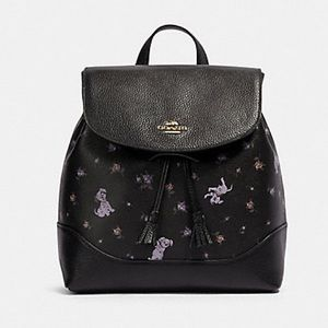 COACH ELLE BACKPACK WITH DALMATIAN FLORAL PRINT